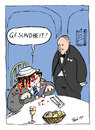 Cartoon: Hatschi! (small) by bob tagged restaurant,ober,kellner,gast,niesen,hatschi,bob