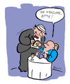 Cartoon: Hirnsuppe (small) by bob tagged restaurant,kellner,ober,hirn,gehirn,bob,hack