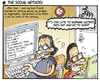 Cartoon: social network movie (small) by ugurgunel tagged social,network,movie