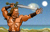 Cartoon: Conan (small) by nolanium tagged conan,caricature,nolan,harris,arnold,schwarzenegger,nolanium