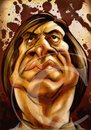 Cartoon: Javier Bardem Caricature (small) by nolanium tagged javier,bardem,caricature,nolanium,no,country,for,old,men,nolan,harris