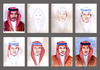 Cartoon: Portrait stages (small) by Abdul Salim tagged portrait,stages,watercolor,art,saudi,arabia