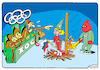 Cartoon: Olympic Inquisition (small) by Igor Kolgarev tagged olympiade,russische,föderation,ioc,wada,doping,schuld,nationalmannschaft,winter,korea,2018,der,sport,inquisition,verleumdung,ausschuss,flammen,gerechtigkeit,olympiad,russia,blame,national,team,slander,committee,fire,justice