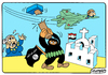 Cartoon: Syria (small) by Igor Kolgarev tagged russia,syria,isis,europe,aviation,bombing,war,churches,cities