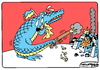 Cartoon: Tears of Ukraine (small) by Igor Kolgarev tagged crocodile,ukraine,kiev,nazis,junta,mourning,donbass,donetsk,lugansk