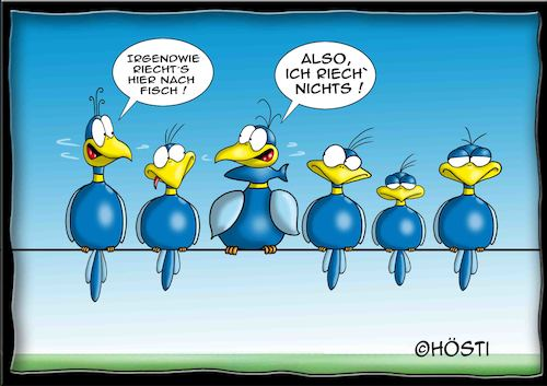 Cartoon: Höstis Batty Birds (medium) by Hösti tagged hösti,cartoons,hoesti,stephan,höstermann,batty,birds,vögel