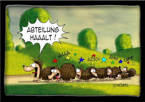 Cartoon: Höstis Ischi Igel (medium) by Hösti tagged hösti,cartoons,hoesti,stephan,höstermann,itschi,igel
