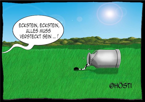 Cartoon: Höstis Kuh Elsa (medium) by Hösti tagged hösti,cartoons,hoesti,stephan,höstermann,kuh,kühe,elsa