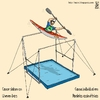Cartoon: canoe slalom on uneven bars (small) by raim tagged canoe slalom olympics games uneven bars