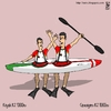 Cartoon: kayak (small) by raim tagged kayak games olympics
