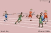 Cartoon: Pole vault - Relay (small) by raim tagged pole,vault,relay,games,olympics