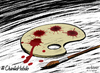 Cartoon: for 4 Cartoonist killed in paris (small) by Ali Miraee tagged ali,miraee
