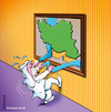 Cartoon: Persian Gulf (small) by Ali Miraee tagged persian,gulf,iran,ali,miraee,mirayi,miraie