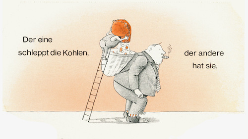 Cartoon: Dummer Spruch? (medium) by Zotto tagged kapitalismus,gesellschaft,arbeit