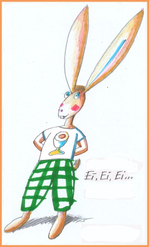 Cartoon: Frohe Ostern! (medium) by Zotto tagged kultfigur,feiertage,ritual,historie,fest