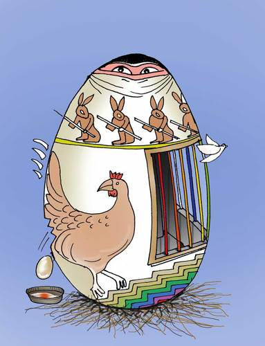 Cartoon: Easter ... (medium) by Afghancartoon tagged 0112