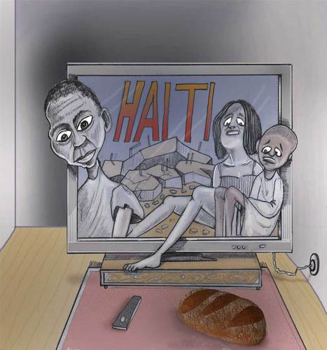 Cartoon: Haiti (medium) by Afghancartoon tagged 099