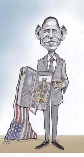 Cartoon: Obama Nobel Prize (medium) by Afghancartoon tagged 086