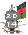 Cartoon: Afghanistan 2014 (small) by Afghancartoon tagged 0187