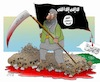 Cartoon: Black flag is The Continuation o (small) by Shahid Atiq tagged afghanistan,mujahedden,taluban,isis