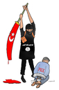 Cartoon: PKK and Turkey (small) by Shahid Atiq tagged pkk,turkey,isis,war,krig,afghanistan,kabul,pres
