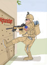 Cartoon: US Democracy in Afghanistan (small) by Afghancartoon tagged afghanistan