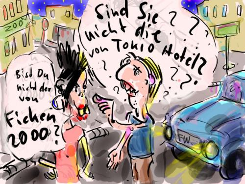 Cartoon: Tokio Hotel (medium) by Faxenwerk tagged faxenwerk,tokio,hotel,