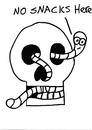 Cartoon: Gross But Cute (small) by Deborah Leigh tagged grossbutcute,skull,worm,bw,doodle,cute