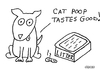 Cartoon: Gross But Cute (small) by Deborah Leigh tagged grossbutcute,deborahleigh,dog,cat,poop