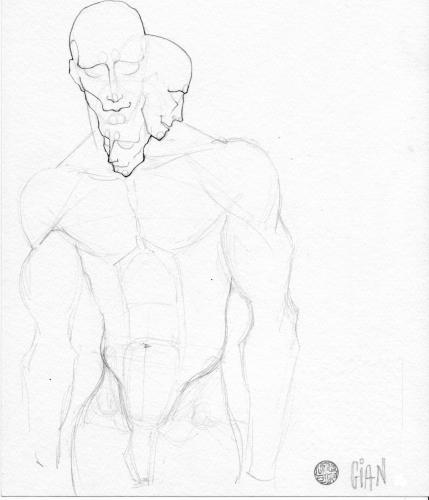 Cartoon: Man (medium) by gianlucasanvido tagged man,