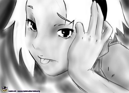 Cartoon: Sakura (medium) by Reziel4 tagged naruto,sakura,