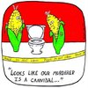 Cartoon: corn cops (small) by sardonic salad tagged corn,vegetable,cartoon,comic,sardonicsalad,cannibal