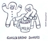 Cartoon: gingerbread bullies (small) by sardonic salad tagged gingerbread,bullies,bully,cartoon,comic,cookie,sardonicsalad