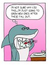 Cartoon: Healthy Smile (small) by sardonic salad tagged sardonic,salad,shark,toothbrush,teeth,dental,hygiene