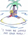 Cartoon: island (small) by sardonic salad tagged island,cartoon,relationship,sardonic,salad