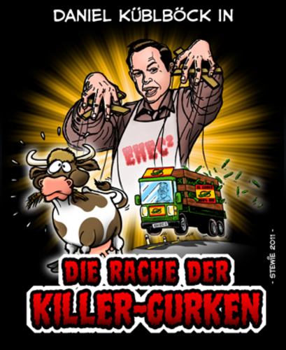 Cartoon: EHEC 2 (medium) by stewie tagged master,puppet,truck,cow,horror,revenge,ehec