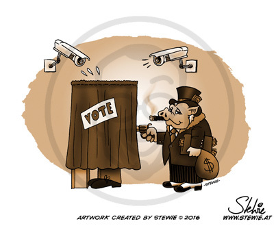 Cartoon: The Future of Voting (medium) by stewie tagged vote