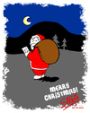Cartoon: MERRY CHRISTMAS EVERYONE! (small) by stewie tagged merry,christmas,santa,claus,night,wood,list,nice