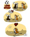 Cartoon: Soccer Love Story (small) by stewie tagged soccer love story