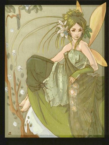 Cartoon: Fairy (medium) by Laurie Mouret tagged fairy,photoshop,fanzine,green,
