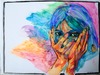 Cartoon: Anxiety (small) by Laurie Mouret tagged björk,hands,colors,highlighters,anxiety