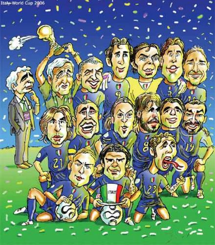 Cartoon: Italy winner of worldcup 2006 (medium) by javad alizadeh tagged italy,worldcup2006