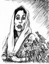Cartoon: Bhutto victim of democracy (small) by javad alizadeh tagged benazir bhutto