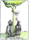 Cartoon: Adam and Eve (small) by ercan baysal tagged adam,eve,apple,snake,tree,man,myt,tale,talent,ercanbaysal,kadn,idea,word,daydream,fantasy,picture,image,figure,vision,erkek,woman,türkiye,turkey
