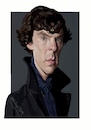 Cartoon: Benedict Cumberbatch (small) by bpatric tagged benedict,cumberbatch,sherlock,doctor,strange,star,trek,movie,actor,series