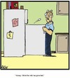 Cartoon: Good milk gone bad (small) by Tim Akin Ink tagged milk,kitchen,rotten,honey,bad,cartoon,comic,humor,funny