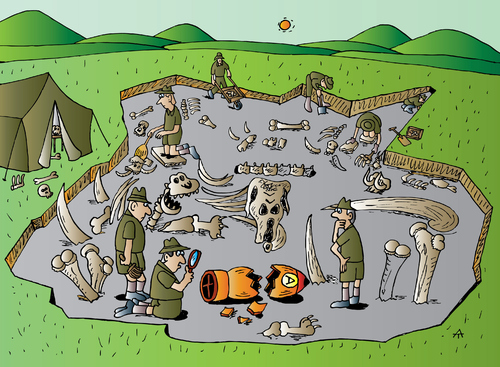 Cartoon: Archaeology (medium) by Alexei Talimonov tagged archaeology