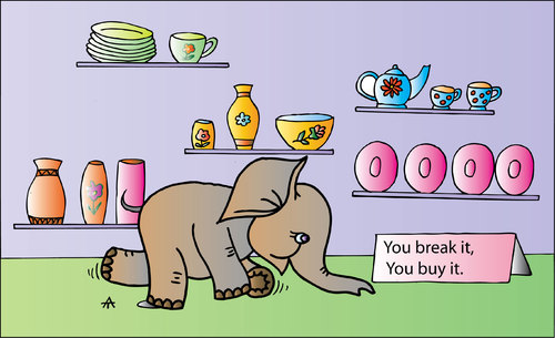 Cartoon: Buy it! (medium) by Alexei Talimonov tagged buy,elephant