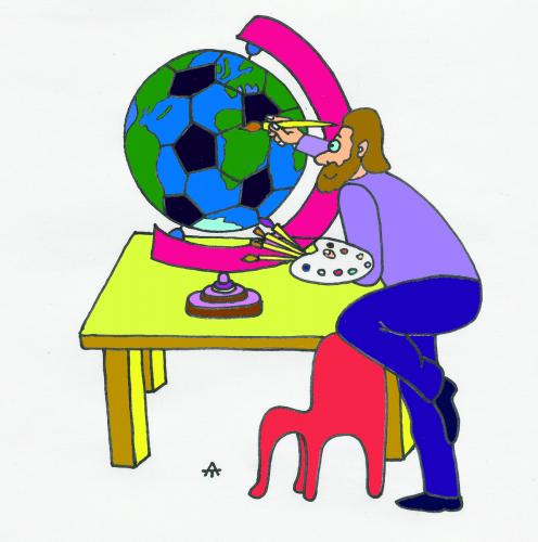 Cartoon: Football 7 (medium) by Alexei Talimonov tagged football,soccer,em,2008,european,championship
