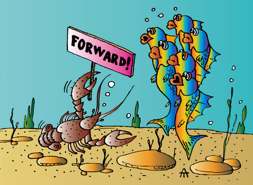 Cartoon: Forward! (medium) by Alexei Talimonov tagged forward